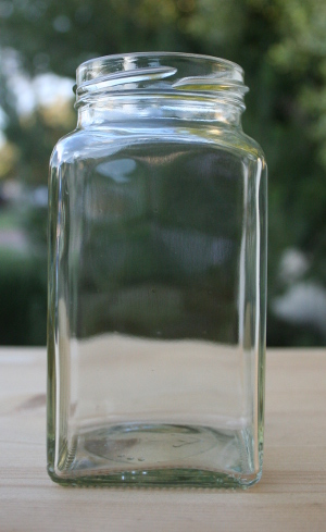 312ml Square Glass Jar with Lids (Pack of 12) - Free Shipping